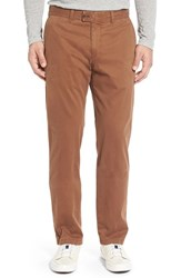 Brax Men's Big And Tall 'Evans' Flat Front Chinos Caramel