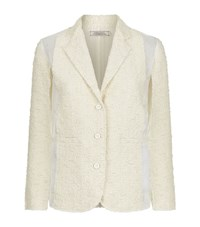 Nina Ricci Tweed Organza Blazer Female Ivory