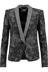 Just Cavalli Printed Wool Jersey Blazer