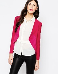 Aryn K Structured Blazer Pinkred