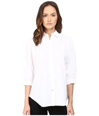 Kate Spade Relaxed Poplin Shirt Fresh White Women's Long Sleeve Button Up Multi
