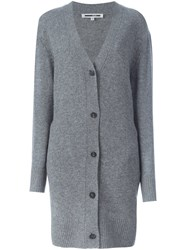 Mcq By Alexander Mcqueen Oversized Cardigan Grey