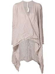 Forme D'expression Draped Woven Cardigan Pink And Purple