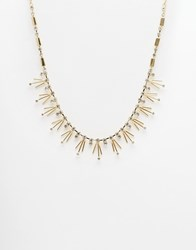 Asos Vintage Rhinestone Stick Necklace Crystal