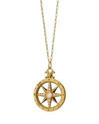 18K Gold Diamond Compass Charm Necklace Monica Rich Kosann