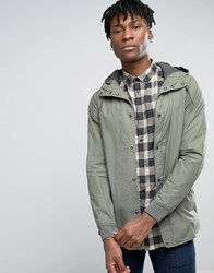 Pull And Bear Pullandbear Lightweight Parka With Hood In Khaki Khaki Green