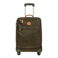 Bric's Life Carry On Zipper Suitcase Olive Tan 55Cm