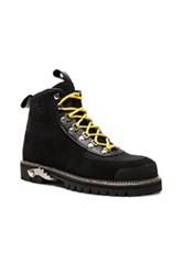 Off White Hiking Suede Cordura Boots In Black