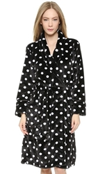Pj Luxe Pj Salvage Polka Dot Robe Black