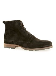 Topman Black Salvo Suede Lace Up Boots