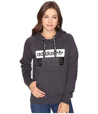 Adidas Originals Hoodie Shadow Black Black White Women's Sweatshirt