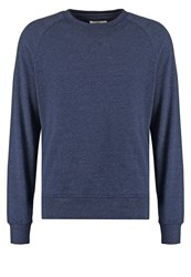 Pier One Sweatshirt Dark Blue Melange Mottled Dark Blue