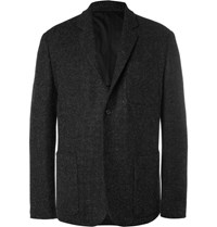 Margaret Howell Grey Harri Wool Tweed Blazer Charcoal