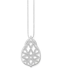 Thomas Sabo Fatima's Garden Oriental Sterling Silver And White Pave Zirconia Pendant Necklace