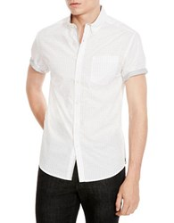Kenneth Cole Short Sleeve Sportshirt White Combo
