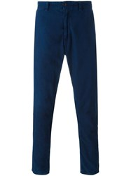 Blue Blue Japan Tapered Cropped Trousers Blue