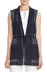 Women's Cece By Cynthia Steffe Four Pocket Eyelet Vest