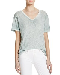 Current Elliott The V Neck Tee Pastel Turquoise