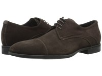 Aquatalia By Marvin K Abe Dark Brown Dress Suede Men's Lace Up Casual Shoes