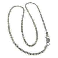 Nina B Silver Chunky Popcorn Chain Necklace