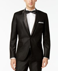 Inc International Concepts Men's Customizable Tuxedo Blazer Only At Macy's Black Slim Shawl Lapel Blazer