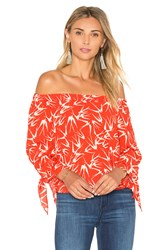 Eight Sixty In Flight Off Shoulder Top Red