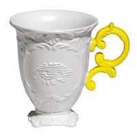 Seletti I Wares Porcelain Mug Yellow