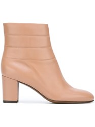 L'autre Chose Chunky Heel Ankle Boots Pink And Purple
