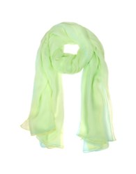 Laura Biagiotti Double Chiffon Silk Stole Lime Light Blue