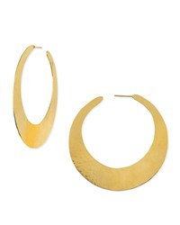Epure 24K Gold Plated Flat Hoop Earrings Herve Van Der Straeten
