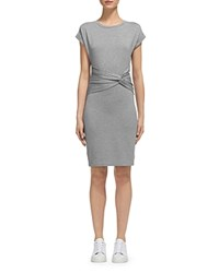 Whistles Anna Wrap Detail Dress Gray