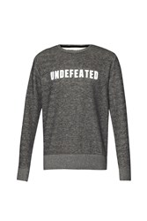 French Connection Fcuk Fear Undefeated Tweed Graphic Crew Neck Pull Grey