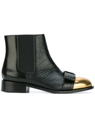 Marni Bow Detail Ankle Boots Black