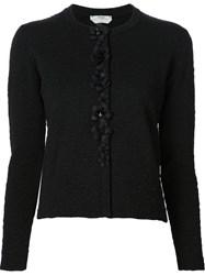 Fendi Floral Embellished Cardigan Black