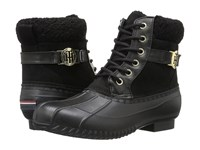 Tommy Hilfiger Roscoe Black Faux Leather Women's Shoes