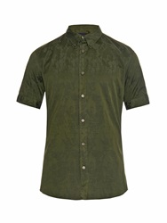 Alexander Mcqueen Marble Jacquard Short Sleeved Cotton Shirt