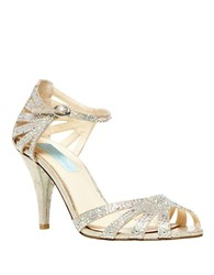 Betsey Johnson Sweet Crystallized Synthetic Heels Champagne