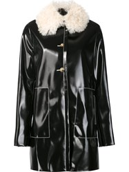 Proenza Schouler Shearling Collar Coat Black