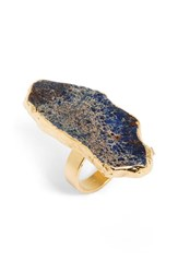 Women's Sole Society Natural Stone Ring Navy