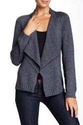 525 America Open Front Cardigan Blue
