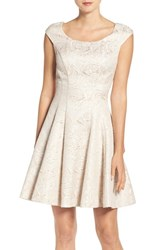 Betsey Johnson Women's Jacquard Fit And Flare Dress