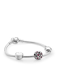 Pandora Design Pandora Bracelet Set Sterling Silver And Cubic Zirconia From The Heart Limited Edition Moments Collection