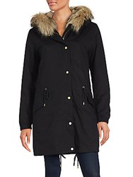 Vince Fur Lined Parka Black