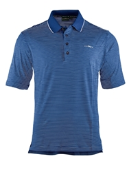 Chervo Apside Stripe Regular Fit Polo Shirt Blue