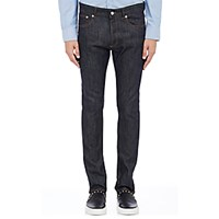 Givenchy Men's Star Embroidered Ultra Slim Jeans Blue Navy Blue Navy
