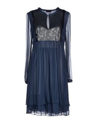 Angelina Folies Short Dresses Slate Blue
