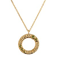 Emily Mortimer Jewellery Wanderlust Peridot Necklace Gold Green
