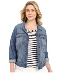Kut From The Kloth Plus Size Helena Denim Jacket Zealous Women's Jacket Blue