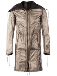 Deepti Silver Plating Reversible Parka Metallic
