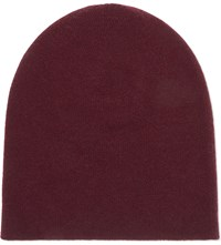 Johnstons Reversible Cashmere Beanie Boysenberry Dawn